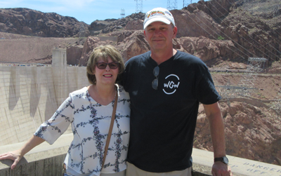 Kathy &  Dan Bonnett at Hoover Dam Apr. 2018
